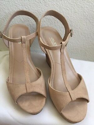 CHARLES BY CHARLES David Womens law Open Toe T-Strap Wedge d5d2095ccfcf