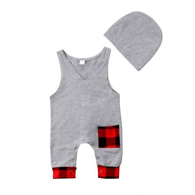 Newborn Rompers Infant Kids Baby Boys Girls Sleeveless Jumpsuit Outfit Clothings