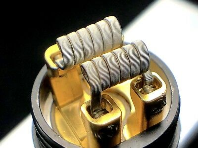 2Pair (4Total) N80 Framed Staple Coils - Free Shipping+Free Coils!!! Nichrome 80
