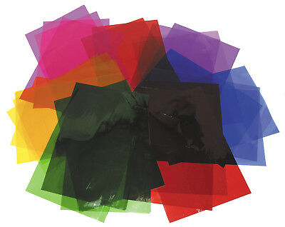 A4 Cellophane Sheets - 48 Sheets In 6 Colours