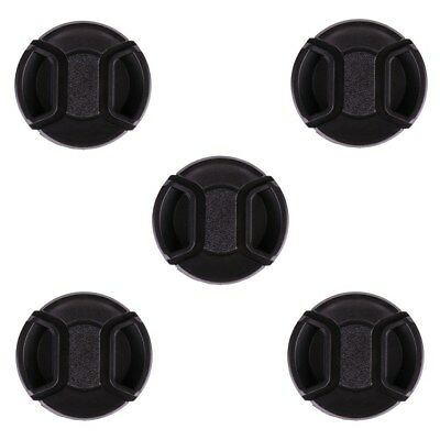 5PCS Center Pinch Snap-on Front Cap Cover for All Digital Camera 55mm Lens