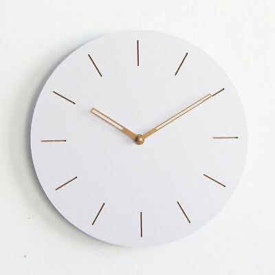 Round Wooden Wall Clock Digital Large Modern Hanging Design 12 Inch Home Decor