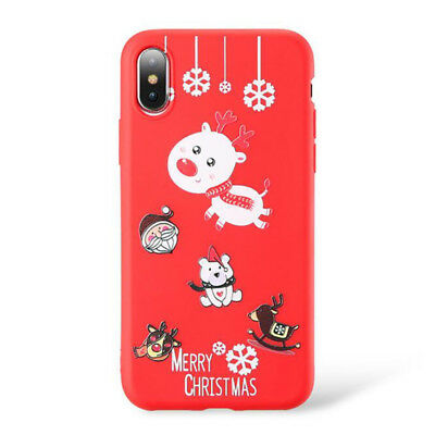 Christmas Series Pattern Silicone IPhone Case TPU Phone Case Shell Painted