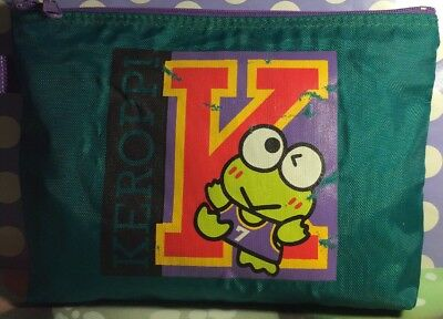 A Very Rare Vintage Sanrio Hello Kitty Keroppi Pouch, Pencil Bag, Makeup Bag 94