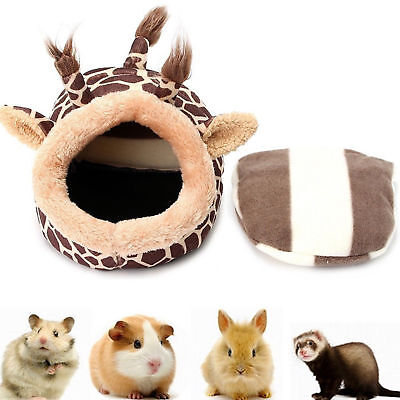 Animal Pet Leopard Print Bed Hammock Hamster Rat Guinea Pig House Nest Pad Cages