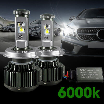V16 H1 H4 H9 H11 H4/HB3/9005 9012 Turbo Car LED Hi/Lo Beam Headlight Bulb Canbus