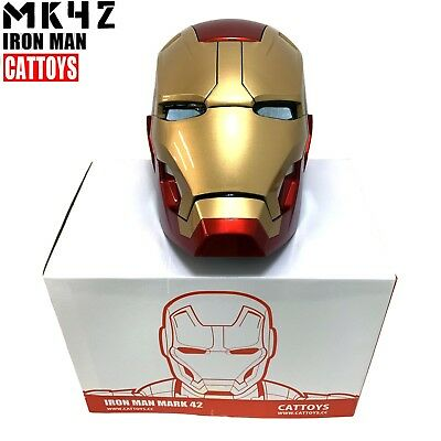 NEW CATTOYS IRON MAN MK42 1:1 Helmet LED EYE DELUXE Cool Replica Collection Gift