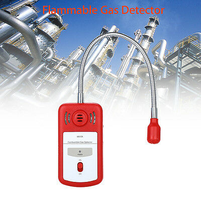 Combustible Gas Leak Detector Sensor Meter Sniffer with Sound Light Alarm Tools