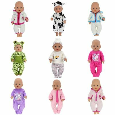 Cute Doll Outfits For 43cm Baby Born Doll Reborn Clothes And Doll Accessories