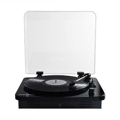 Musitrend Portable Record Player Bluetooth 3-Speed BLUETOOTH Suitcase Turntable