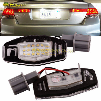 2*18 LED License Plate Light Direct Fit For Acura TL TSX MDX Honda Civic Accord