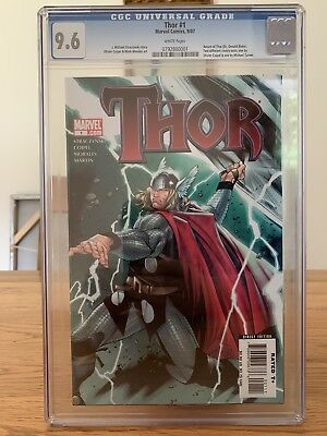 Thor 1 Cgc 9.6 White Pages. Two Covers Exist. Olivier Coipel Cover Marvel