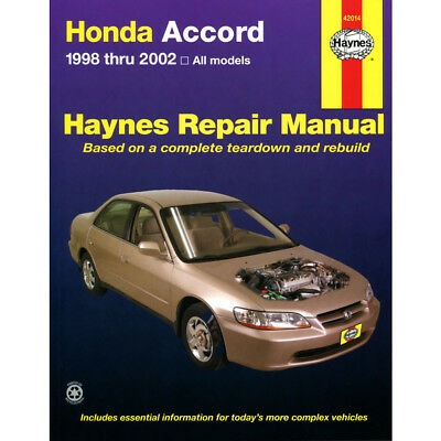 Honda Accord All Models 1998-2002 Haynes USA Workshop Manual