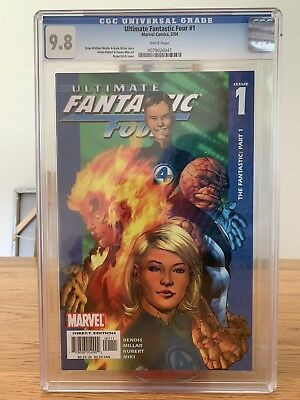 Ultimate Fantastic Four No1 Cgc 9.8 White Pages