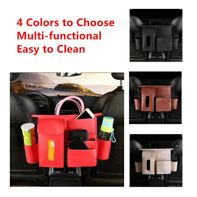 Functional For Car Trunk Organizer Rear Seat Storage Bag Nets Headrest Mount