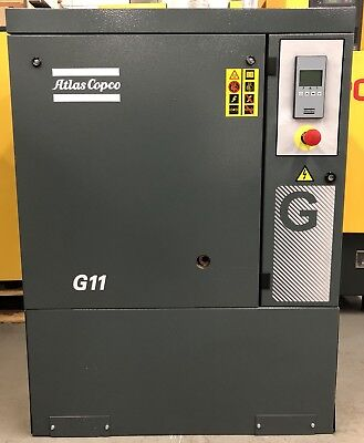 Atlas Copco G11 Rotary Screw Compressor 11Kw, 15Hp, 51Cfm! Immaculate, Low Hours