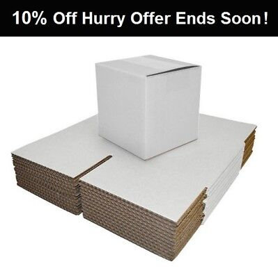 White Folding Postal Cardboard Boxes Mailing Shipping Packaging Cartons-WB