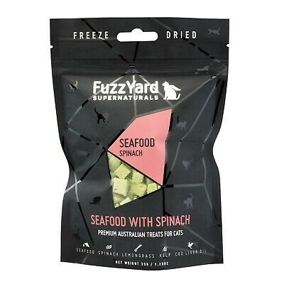 Fuzzyard Natural Freeze Dried Cat Treats - Seafood with Spinach 40g