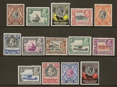 Kut 1935-37 Kgv Pictorial Defins To £1 Sg110/23