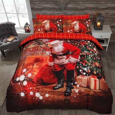 Santa Presents Father Christmas Luxurious Duvet Cover Sets Bedding