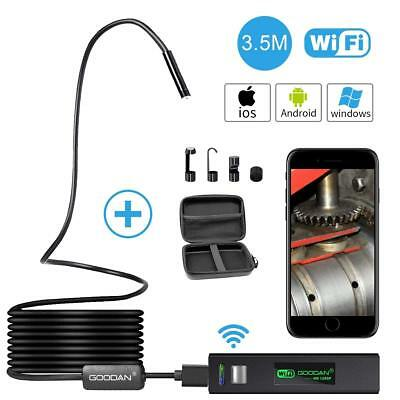 1200P Wireless Endoscope for iPhone Android WIFI Borescope Inspection HD Camera