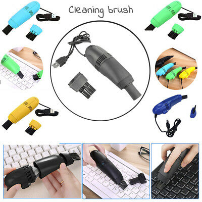 Mini Computer Vacuum USB Keyboard Cleaner PC Laptop Brush Dust Cleaning Kit Nice