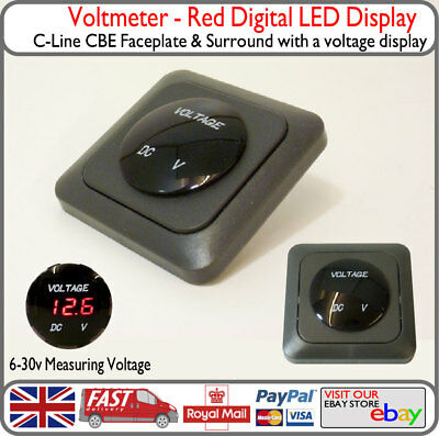 C-Line CBE Red Voltmeter Voltage Display Elddis Burstner Autocruise Iveco VW T5