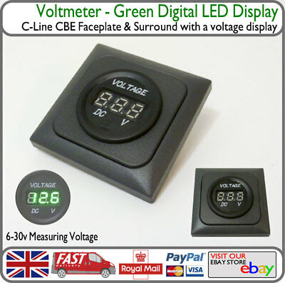 Leisure Solar Battery Display Readout Voltmeter Camper Boat Motorhome VW T4 T5