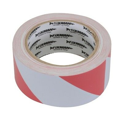"Hazard Tape 2"" 33M Red White Self Adhesive Lane Marking Security Warning 188781"