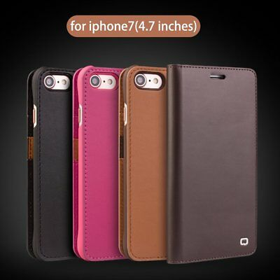 QIALINO Wallet Case for iPhone  6s 7 8 Plus Genuine Real Leather Flip Cover NP