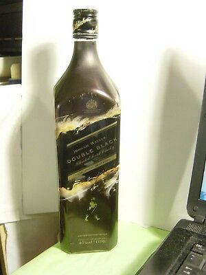 1L Johnnie Walker Double Black Scotch Whisky Empty Bottle LIMITED EDITION
