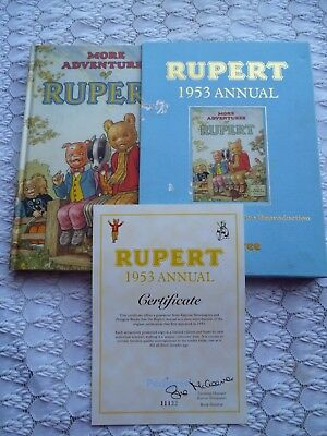 Rupert  Annual 1953 Reproduction Cert & Slip-Case Limited Edition