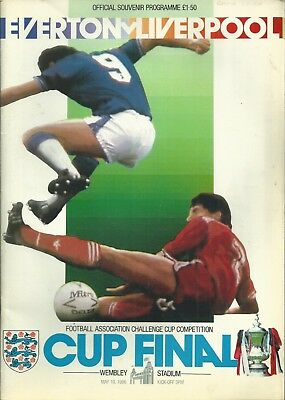 Everton F.c  V Liverpool F.c  F.a. Cup Final 1986 Matchday Programme