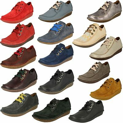 Ladies Clarks Stylish Lace Up Leather Shoes 'Funny Dream'