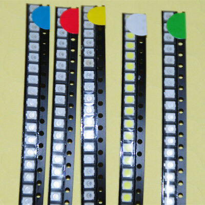 500pcs 2835 SMD LED Light-Emitting-Diode White Red Green Blue Yellow 100pcs each