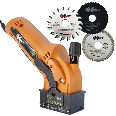 Exakt EC320 Saw with 3 Blades and Carry Case - Orange