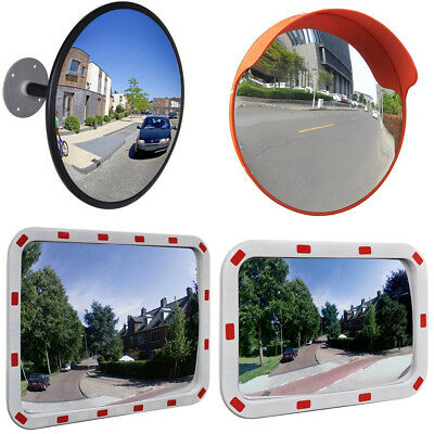 Road Traffic Convex Mirror Outdoor Street Safety Security Wide Angle Multi Sizes