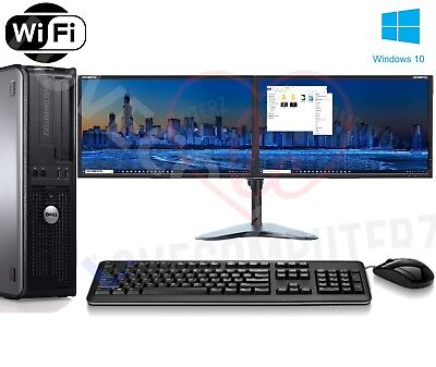 "Cheap Dell Dual Screen  17"" TFT Desktop PC Computer 