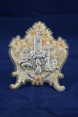 † 1920's OUR LADY of FATIMA RELIQUARY 1 SOIL RELIC MARIAN APPARITION PORTUGAL †