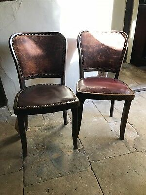 Fabulous Pair Of Vintage Burgundy Leather Bistro Chairs 120 00 Pdpeps Interior Chair Design Pdpepsorg