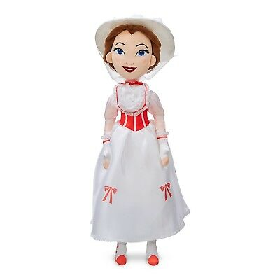 Official Disney Store Mary Poppins White Outfit 47cm Soft Plush Toy Doll