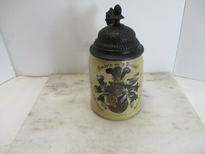 Antique Mettlach .5L  Student Society Stein replacement lid
