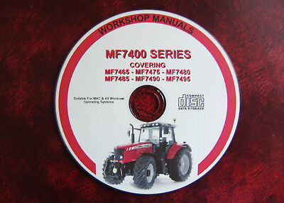 Massey Ferguson Mf7465 7475 7480 7485 7490 7495 Workshop Service Repair Manual