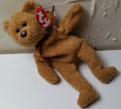 b463c6fa67a Ty CURLY Bear Beanie Baby VINTAGE 1996 PE MINT WITH TAGS RARE RETIRED