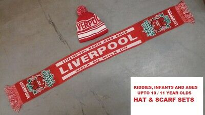 Kids Infants Liverpool Hat And Scarf Set Birthday Christmas Present