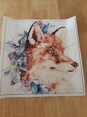 completed 5d gem painting fox face