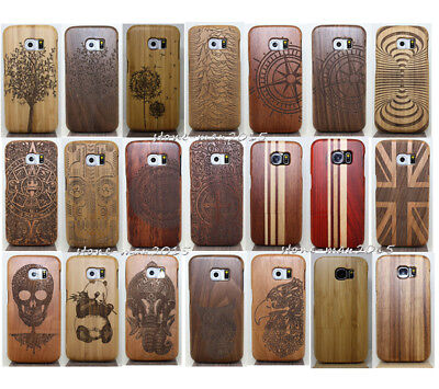 Natural Wood Bamboo Phone Fitted Case Cover for Samsung Galaxy S9+Plus S8 Plu S8
