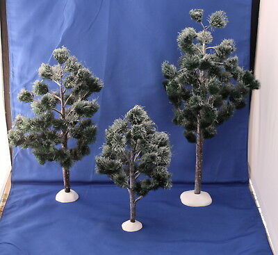 Department 56 Village Jack Pines Set Of 3 Village Trees Accessories