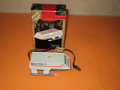 1992 Hallmark Keepsake Ornament Star Trek Shuttlecraft Galileo Hear Spock Voice