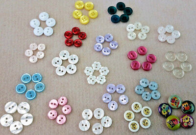 100 Colourful Buttons as Photos - 20 INDIVIDUAL PACKS of 5 Craft Buttons